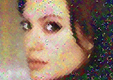 Angelina in an Art Mosaic