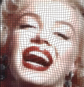 Marilyn as a Tile Mosaic