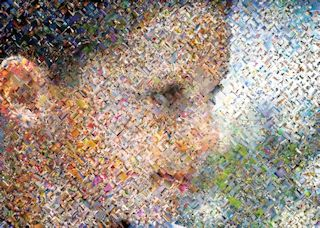 Dan as a Herringbone Photo Mosaic