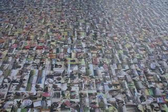 A shot of the world's biggest photo mosaic from ground level