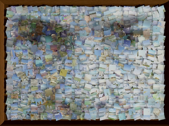 The full 3D pinboard photo mosaic